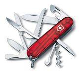 VICTORINOX 1.3713.T Swiss Army knife HUNTSMAN, red translucent