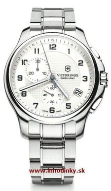 Pánske hodinky VICTORINOX 241554 Officier`s Chronograf + darček na výber