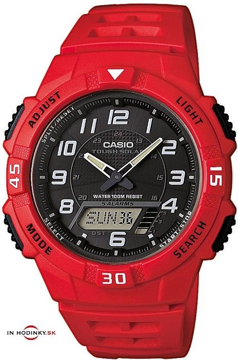 Športové hodinky CASIO AQ S800W-4B Tough solar + Darček meteostanica