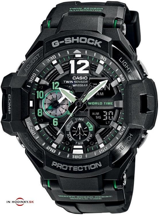 CASIO. Športové hodinky CASIO GA 1100-1A3 G-Shock + darček zväčšiť obrázok 2e5649615d