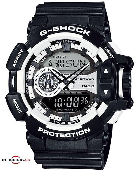 9bfd66b5a Pánske športové hodinky CASIO GA 400-1A G-Shock Gold s kombinovaným ...