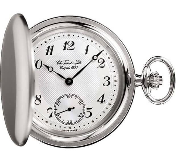 Vreckové hodinky TISSOT T83.7.407.32 Savonnette Mechanical + darček zväčšiť  obrázok 0f38f95c724